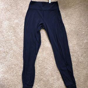 Navy lululemon jogger leggings